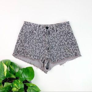 BDG High Rise Cheeky Gray Leopard Print Size 28